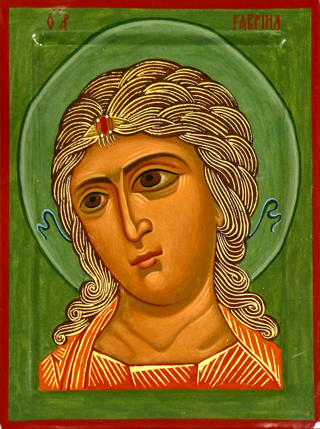 Ikona Anioła ze złotymi włosami