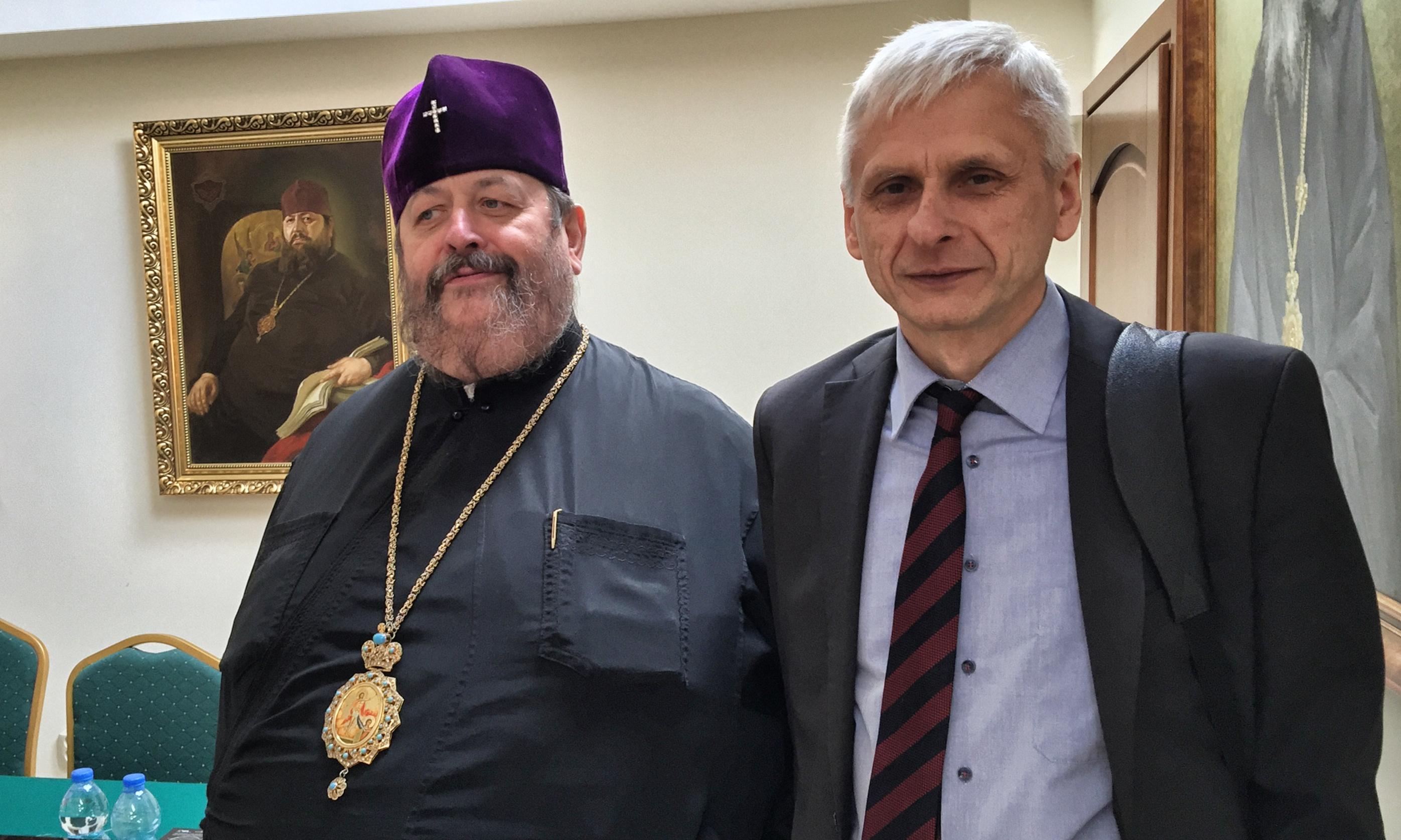 JE Władyka Abel i profesor Krzysztof Leśniewski