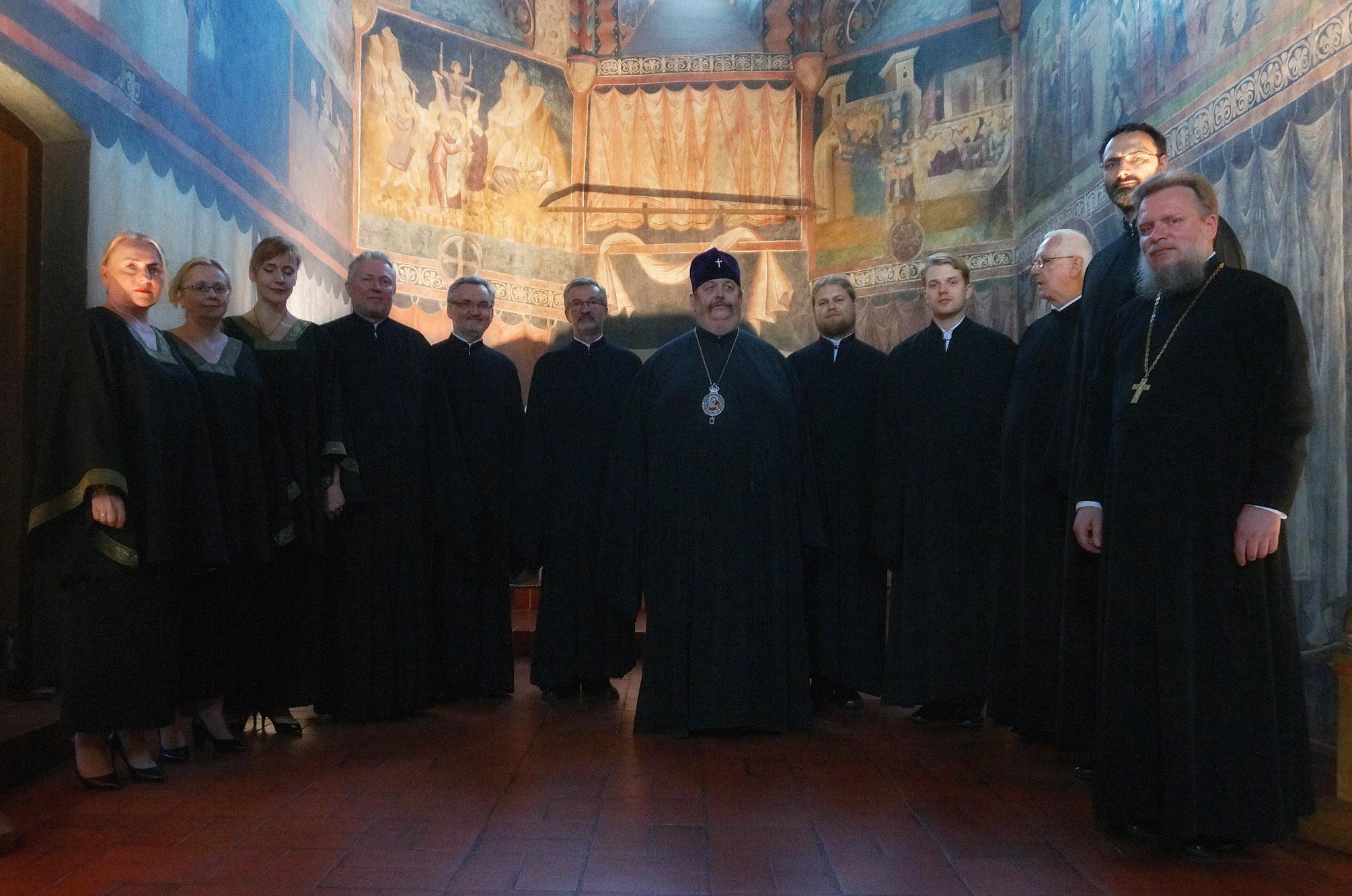 """Chór """"Oktoich"""" w kaplicy Trójcy Świętej na Zamku Lubelskim"""