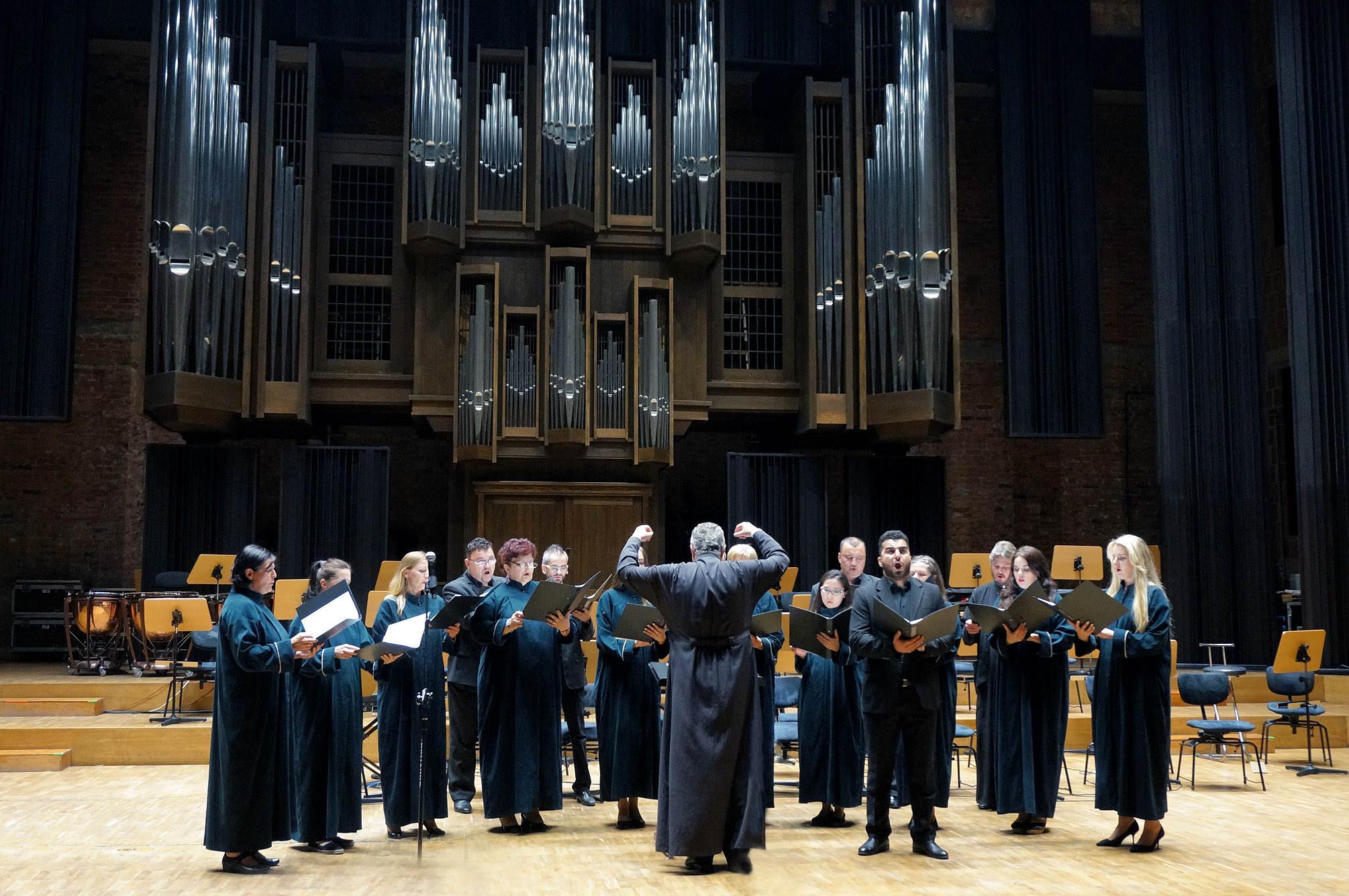 Chór Prawosławnej Katedry pw. Przemienienia Pańskiego w Lublinie na koncercie galowym III edycji festiwalu
